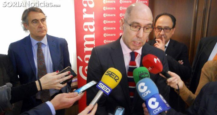 Martín Tobalina este jueves en la Cámara de Soria. /SN