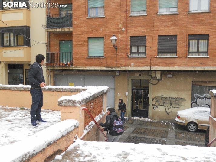 Nevada en la capital soriana. Soria Noticias.