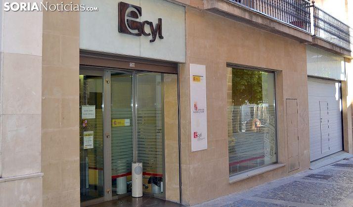 Oficina del Ecyl en la capital soriana. /SN