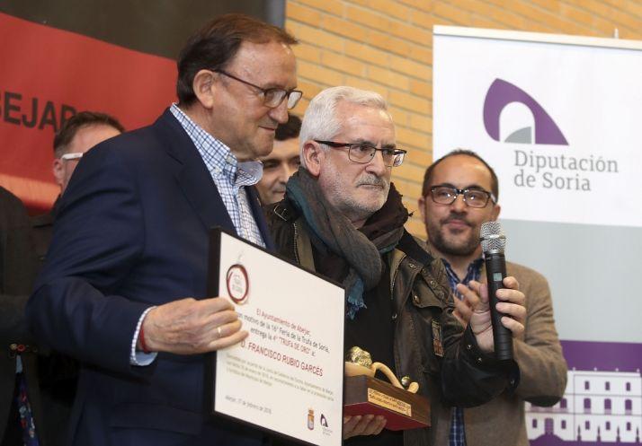 El empresario Francisco Rubio recibe la Trufa de Oro en la Feria de Abejar con más proyección internacional