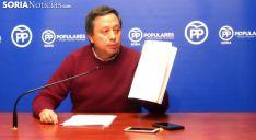 Adolfo Sainz, concejal del PP este martes en rueda informativa. /SN