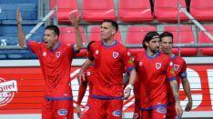 Gol de Manu del Moral al Real Zaragoza esta temporada en Los Pajaritos. LaLiga