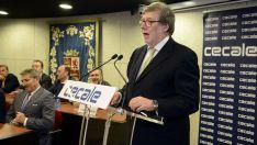 Santiago Aparicio, en su discurso de investidura. /EP