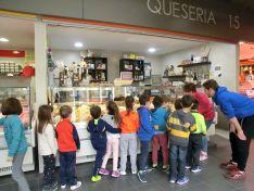 Imagen de los escolares en la visita. /Ayto.Soria