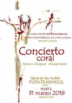 Cartel del concierto en la Iglesia de San Andrés. Coro de Fuentearmegil.