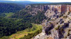 Vista aérea del Cañón del Río Lobos.
