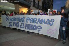 Una imagen de la manifestación de este jueves, 8-M. /SN