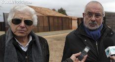 Bascones (izda.) y De Diego este viernes en Numancia. /SN