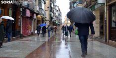 Una imagen de lluvia en El Collado esta pasada semana. /SN