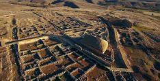 Una de las bellas imágenes aéreas del yacimiento.