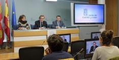 Rueda de prensa tras la Comisión de Coordinación Territorial. /Jta.