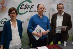 Marta San José, Carlos Alfonso González y David Amo.