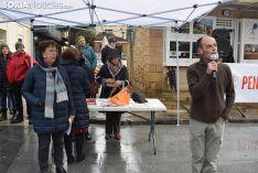 Concentración por unas pensiones dignas, en la plaza de Mariano Granados.