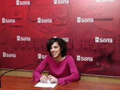 Inés Andrés en rueda de prensa.