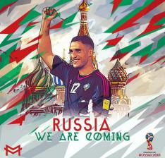 Diseño subido por el propio Munir a Instagram para celebrar la clasificación de Marruecos para el Mundial de Rusia 2018