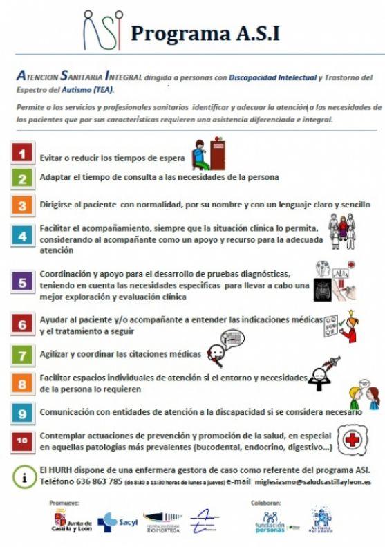 Cartel del programa ASI. Consejería de Sanidad de la Junta de Castilla y León.