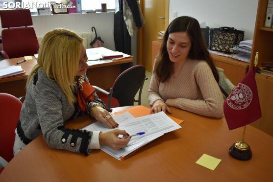 El proyecto sobre la gestión de residuos ganaderos centra las conversaciones de las protagonistas. Soria Noticias.