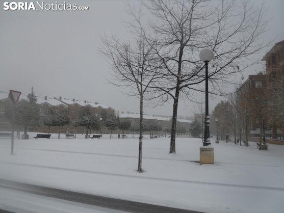 Nevada en Soria durante este invierno. Soria Noticias.