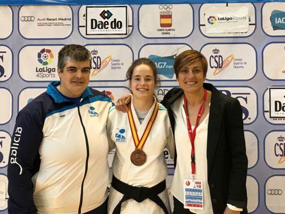 La soriana Rocío García logra la medalla de bronce en el Nacional Júnior de judo.