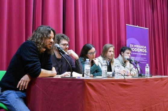 Comitiva de Podemos de Castilla y León.