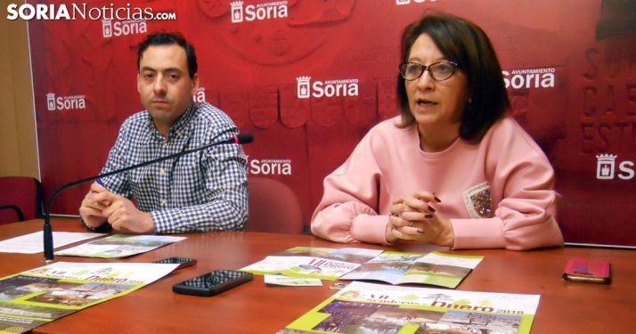 Lourdes Andrés y Fernando Baena en la presentación del ciclo este martes. /SN