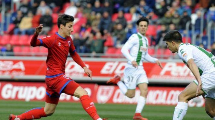 Guillermo, autor del 2-1 en Soria. LaLiga