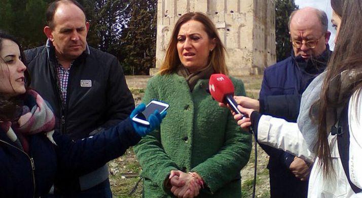 Virgina Barcones, este martes en Coca (Segovia).