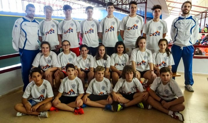 Deportistas de las categorías jóvenes del CBS-CS24.