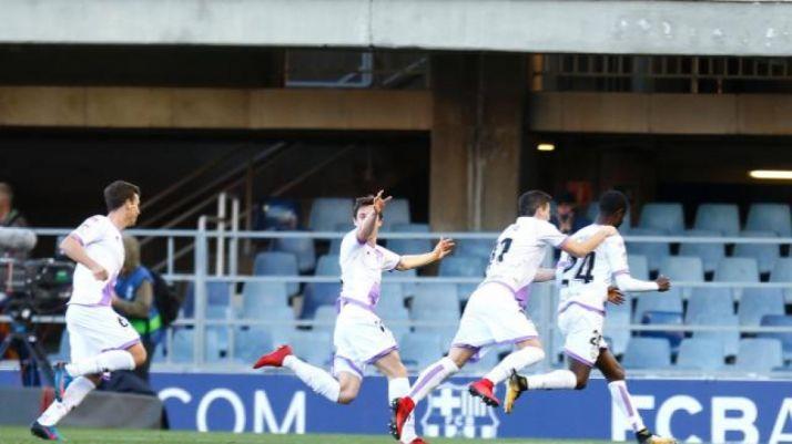 Gol de Diamanka en el Mini Estadi (2-2). LaLiga