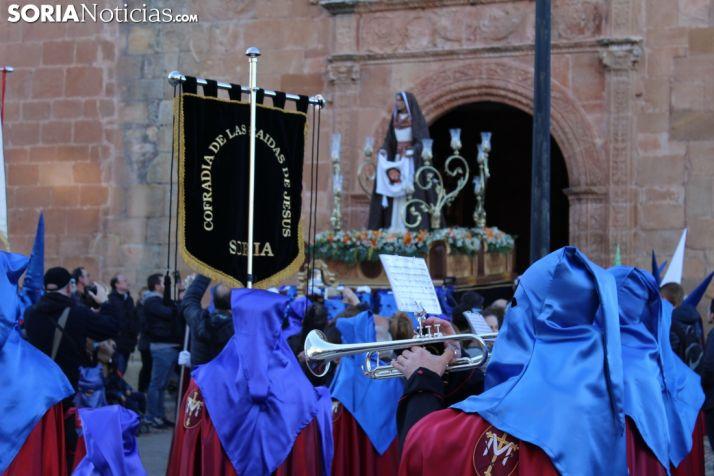 Procesión de la Cofradía de las Caídas de Jesús. Soria Noticias.