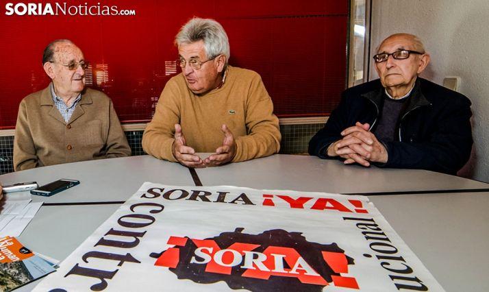 Goyo Sanz (izda.), Luiz Giménez y Goyo Alonso. /SN