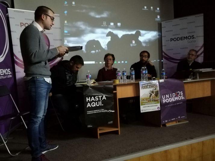 Acto de Podemos en Ólvega. Podemos Castilla y León.