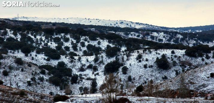 Imagen de la Sierra de Santa Ana esta mañana de martes. /SN