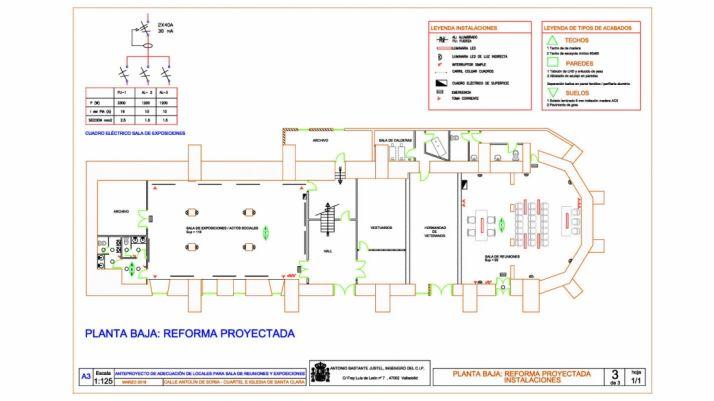 Plano de la primera planta según el anteproyecto elaborado. /Subdeleg.