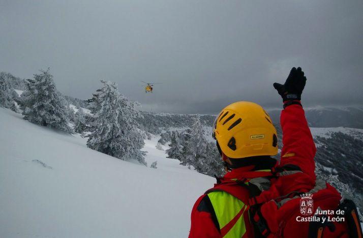 Foto 1 - Herido un montañero en Burgos tras ser arrastrado por un alud