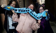 La afición celeste ya está en Teruel./ La Curva Soriana