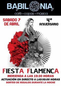 El sábado, IV aniversario del Babilonia con fiesta flamenca