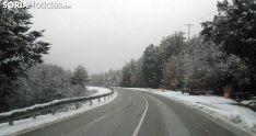 Una carretera de la provincia esta mañana de miércoles. /SN