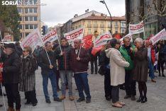 Manifestación para exigir pensiones más dignas.