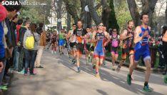 Duatletas en una competición oficial en la Dehesa. /SN