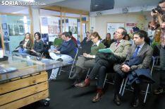 Asistentes a la jornada informativa este martes en El Hueco. /SN