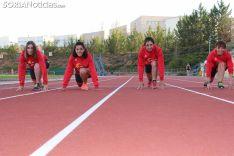 Marina Peña, Mireya Calvo, Itziar García y Lorena Pacheco forman el nuevo equipo femenino en el tiatón soriano.