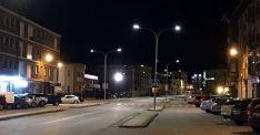 La nueva iluminación en la avenida Juan Carlos I.