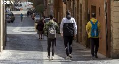 Imagen de una calle del casco antiguo de la capital este martes. /Freddy Páez