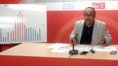 Luis Rey, este jueves en rueda informativa. /PSOE
