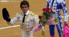 Rubén Sanz, en una vuelta al ruedo en el coso de San Benito. /SN