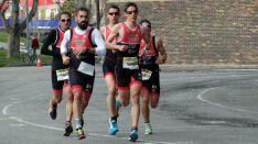 Los corredores sorianos durante la prueba.