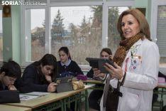 María Jesús Borobio, durante una de sus clases en Escolapias. Freddy Páez.