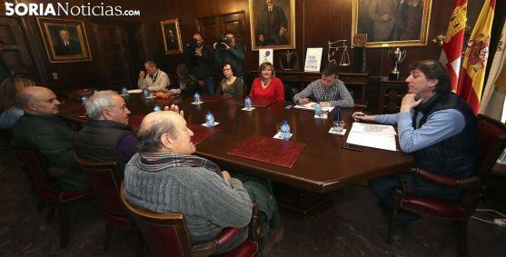Imagen de la reunión este lunes. /SN