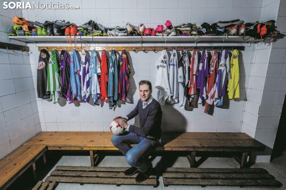 José Antonio Culebras, futbolista de la SD Almazán. Soria Noticias.